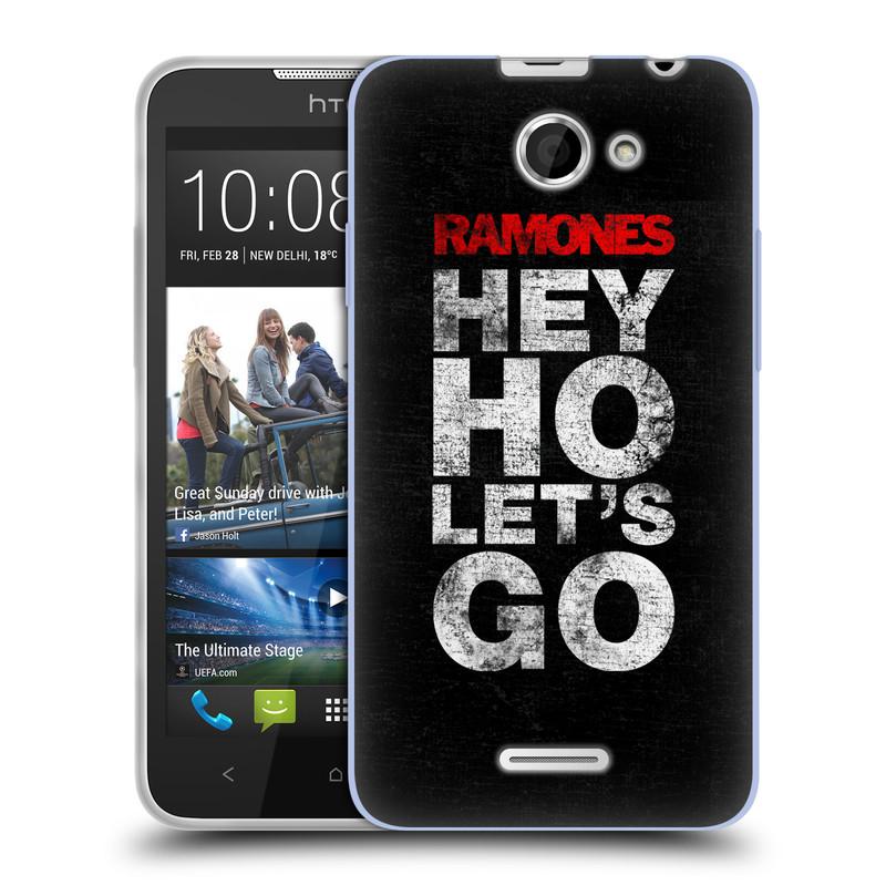 Silikonové pouzdro na mobil HTC Desire 516 HEAD CASE The Ramones - HEY HO LET´S GO (Silikonový kryt či obal na mobilní telefon s oficiálním licencovaným motivem The Ramones pro HTC Desire 516 Dual SIM)