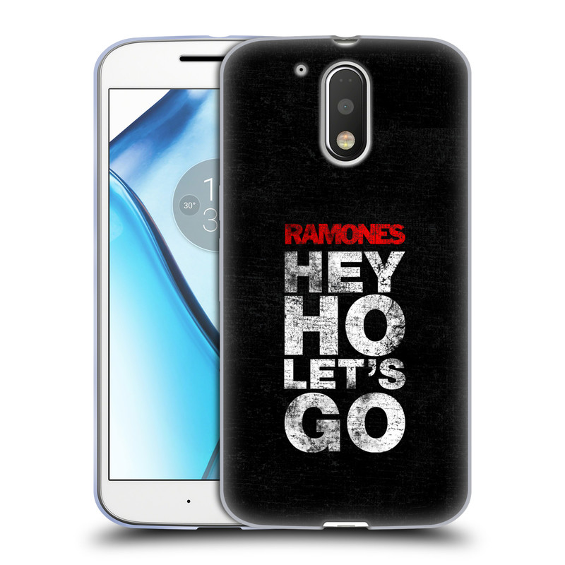 Silikonové pouzdro na mobil Lenovo Moto G4 HEAD CASE The Ramones - HEY HO LET´S GO (Silikonový kryt či obal na mobilní telefon s oficiálním licencovaným motivem The Ramones pro Lenovo Moto G4 (Single a Dual SIM))