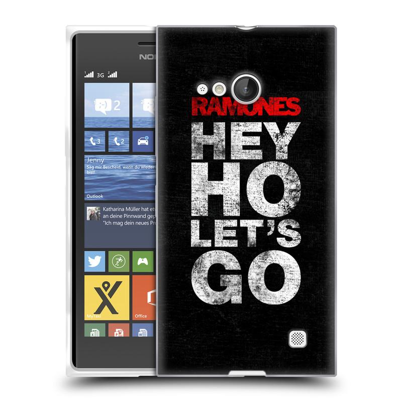 Silikonové pouzdro na mobil Nokia Lumia 730 Dual SIM HEAD CASE The Ramones - HEY HO LET´S GO (Silikonový kryt či obal na mobilní telefon s oficiálním licencovaným motivem The Ramones pro Nokia Lumia 730 Dual SIM)