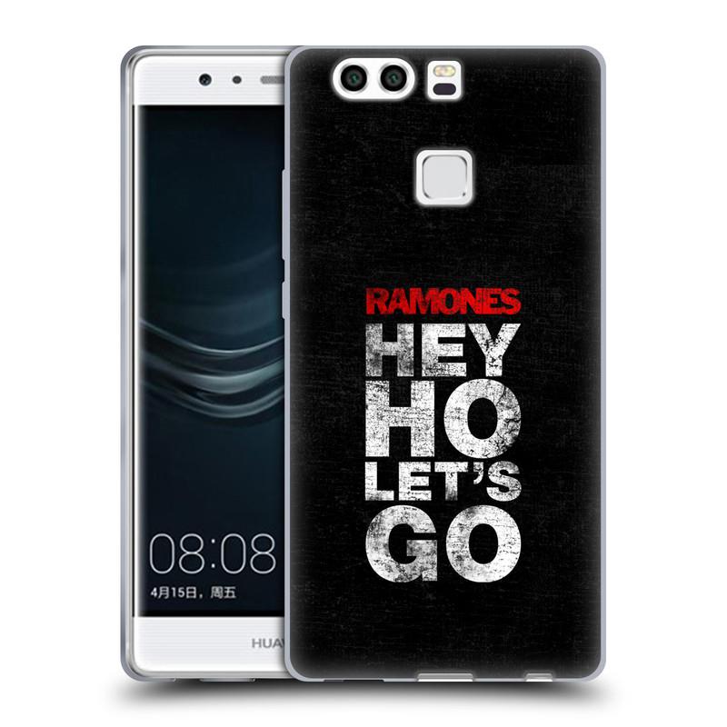 Silikonové pouzdro na mobil Huawei P9 Plus HEAD CASE The Ramones - HEY HO LET´S GO (Silikonový kryt či obal na mobilní telefon s oficiálním licencovaným motivem The Ramones pro Huawei P9 Plus / Huawei P9 Plus Dual SIM)