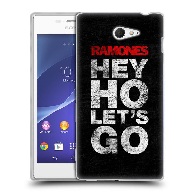 Silikonové pouzdro na mobil Sony Xperia M2 D2303 HEAD CASE The Ramones - HEY HO LET´S GO (Silikonový kryt či obal na mobilní telefon s oficiálním licencovaným motivem The Ramones pro Sony Xperia M2)