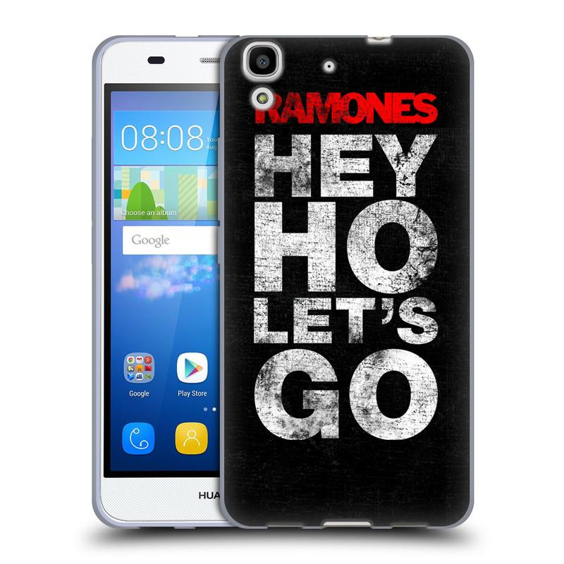 Silikonové pouzdro na mobil Huawei Y6 HEAD CASE The Ramones - HEY HO LET´S GO (Silikonový kryt či obal na mobilní telefon s oficiálním licencovaným motivem The Ramones pro Huawei Y6 / Huawei Y6 Dual SIM)
