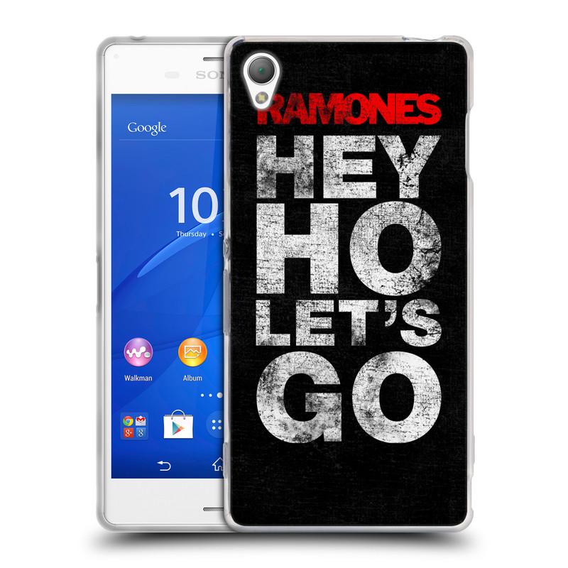 Silikonové pouzdro na mobil Sony Xperia Z3 D6603 HEAD CASE The Ramones - HEY HO LET´S GO (Silikonový kryt či obal na mobilní telefon s oficiálním licencovaným motivem The Ramones pro Sony Xperia Z3)
