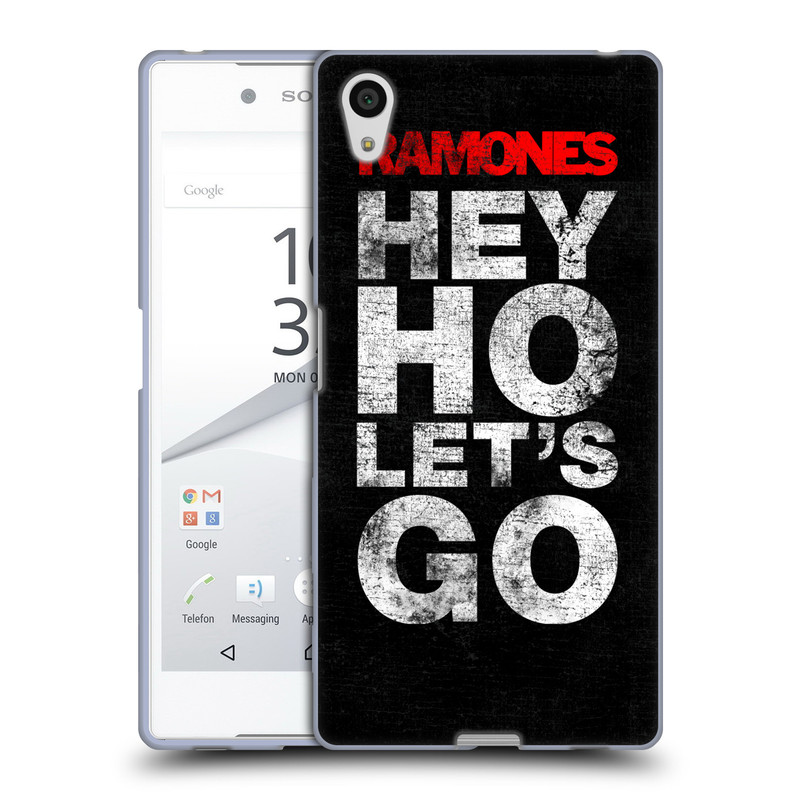 Silikonové pouzdro na mobil Sony Xperia Z5 HEAD CASE The Ramones - HEY HO LET´S GO (Silikonový kryt či obal na mobilní telefon s oficiálním licencovaným motivem The Ramones pro Sony Xperia Z5 E6653)