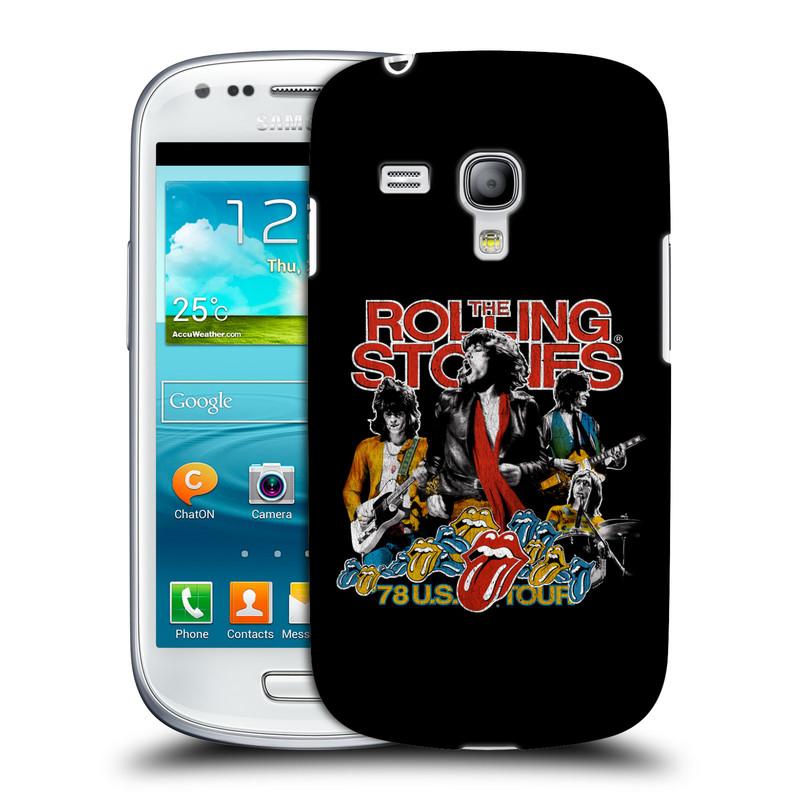 Silikonové pouzdro na mobil Samsung Galaxy S III Mini VE HEAD CASE The Rolling Stones - Kapela 78 U.S. Tour (Plastový kryt či obal The Rolling Stones Official na mobilní telefon Samsung Galaxy S3 Mini VE GT-i8200)