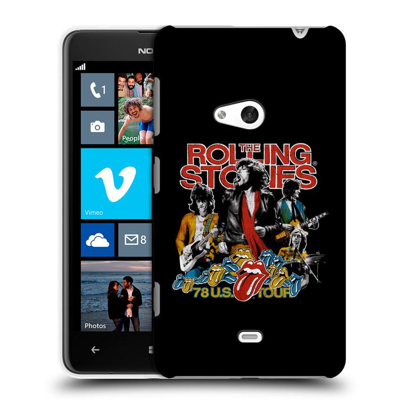 Plastové pouzdro na mobil Nokia Lumia 625 HEAD CASE The Rolling Stones - Kapela 78 U.S. Tour (Plastový kryt či obal The Rolling Stones Official na mobilní telefon Nokia Lumia 625)