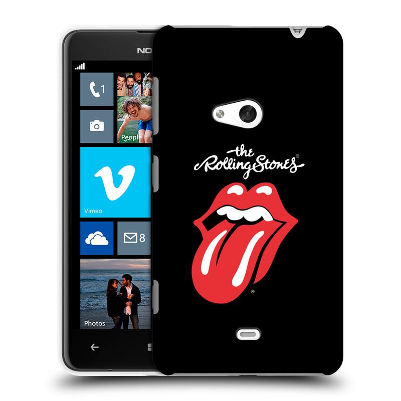 Plastové pouzdro na mobil Nokia Lumia 625 HEAD CASE The Rolling Stones - Classic Lick (Plastový kryt či obal The Rolling Stones Official na mobilní telefon Nokia Lumia 625)
