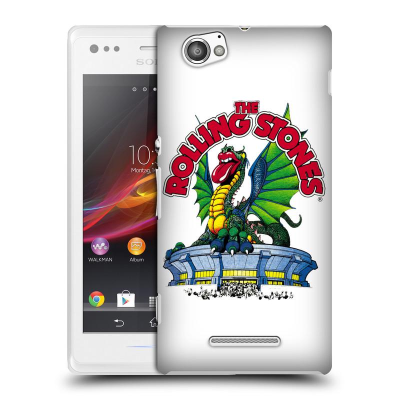 Plastové pouzdro na mobil Sony Xperia M C1905 HEAD CASE The Rolling Stones - Dragon (Plastový kryt či obal The Rolling Stones Official na mobilní telefon Sony Xperia M )