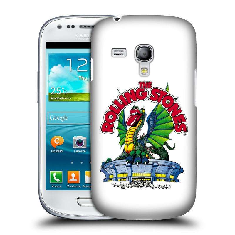 Silikonové pouzdro na mobil Samsung Galaxy S III Mini VE HEAD CASE The Rolling Stones - Dragon (Plastový kryt či obal The Rolling Stones Official na mobilní telefon Samsung Galaxy S3 Mini VE GT-i8200)