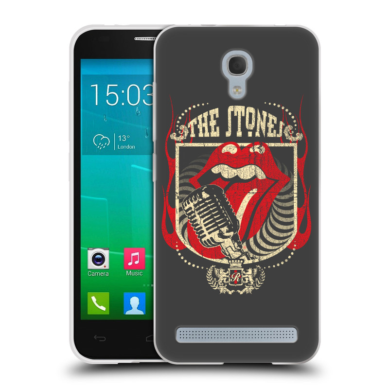 Silikonové pouzdro na mobil Alcatel One Touch Idol 2 Mini S 6036Y HEAD CASE The Rolling Stones - Mikrák (Silikonový kryt či obal The Rolling Stones Official na mobilní telefon Alcatel Idol 2 Mini S OT-6036Y)