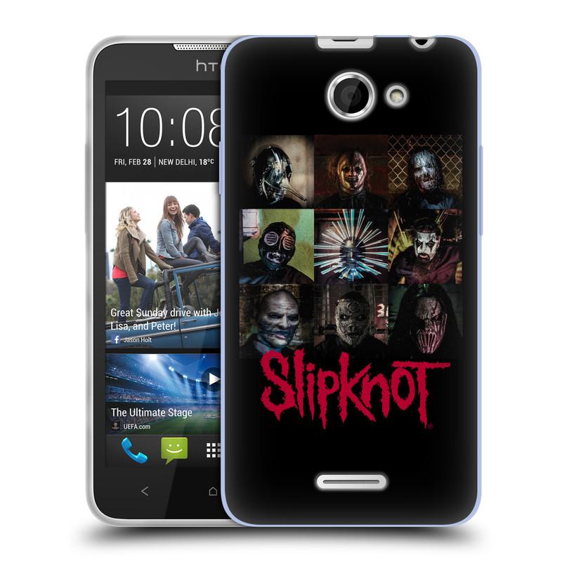 Silikonové pouzdro na mobil HTC Desire 516 HEAD CASE Slipknot - Bloky (Silikonový kryt či obal na mobilní telefon licencovaným motivem Slipknot pro HTC Desire 516 Dual SIM)