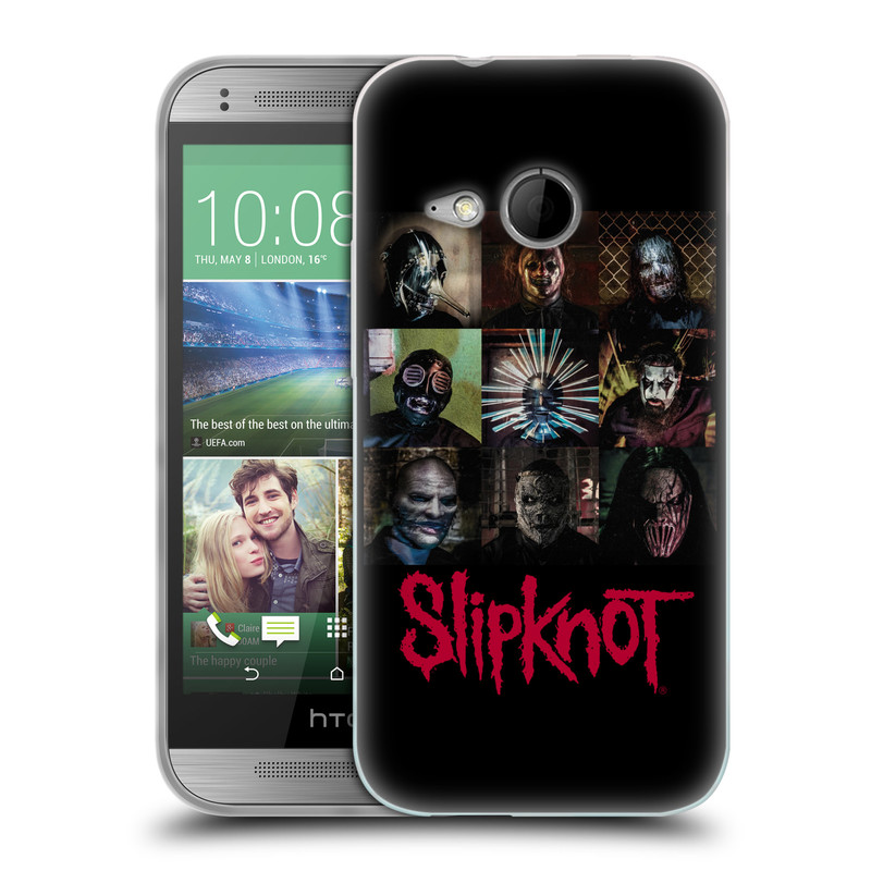 Silikonové pouzdro na mobil HTC ONE Mini 2 HEAD CASE Slipknot - Bloky (Silikonový kryt či obal na mobilní telefon licencovaným motivem Slipknot pro HTC ONE Mini 2)