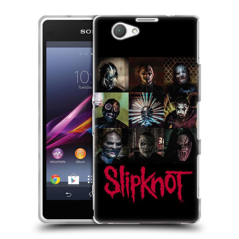 Silikonové pouzdro na mobil Sony Xperia Z1 Compact D5503 HEAD CASE Slipknot - Bloky (Silikonový kryt či obal na mobilní telefon licencovaným motivem Slipknot pro Sony Xperia Z1 Compact)