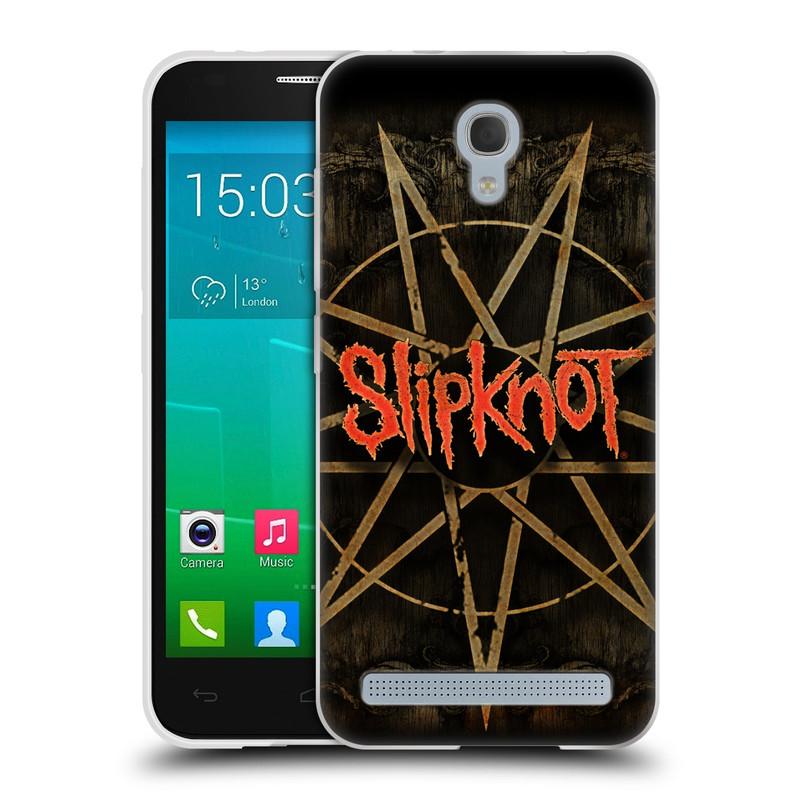 Silikonové pouzdro na mobil Alcatel One Touch Idol 2 Mini S 6036Y HEAD CASE Slipknot - Znak (Silikonový kryt či obal na mobilní telefon licencovaným motivem Slipknot pro Alcatel Idol 2 Mini S OT-6036Y)