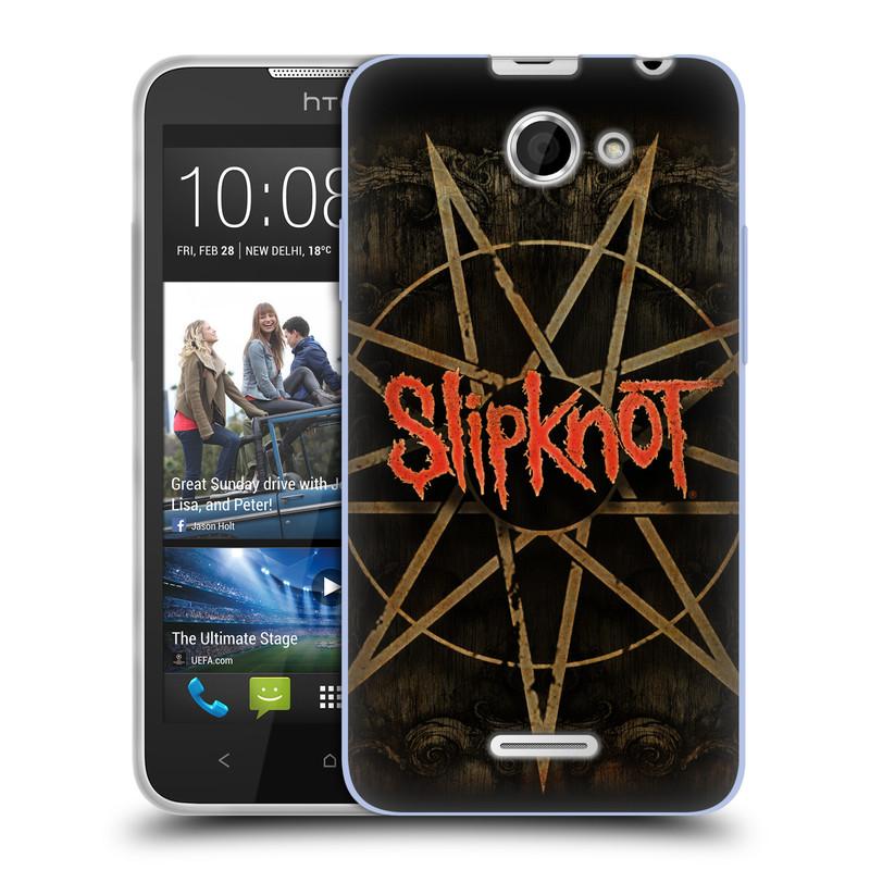 Silikonové pouzdro na mobil HTC Desire 516 HEAD CASE Slipknot - Znak (Silikonový kryt či obal na mobilní telefon licencovaným motivem Slipknot pro HTC Desire 516 Dual SIM)