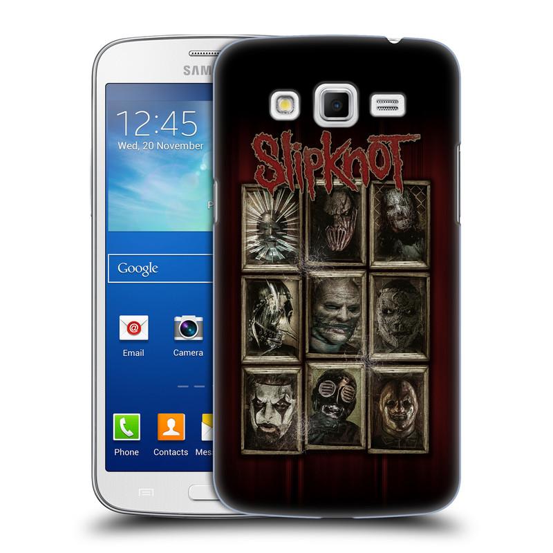 Plastové pouzdro na mobil Samsung Galaxy Grand 2 HEAD CASE Slipknot - Masky (Plastový kryt či obal na mobilní telefon licencovaným motivem Slipknot pro Samsung Galaxy Grand 2 LTE SM-G7105F a Samsung Galaxy Grand 2 Duos SM-G7102F)