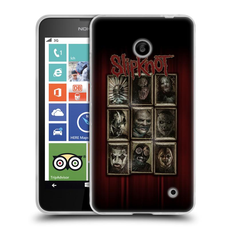 Silikonové pouzdro na mobil Nokia Lumia 635 HEAD CASE Slipknot - Masky (Silikonový kryt či obal na mobilní telefon licencovaným motivem Slipknot pro Nokia Lumia 635 Dual SIM)
