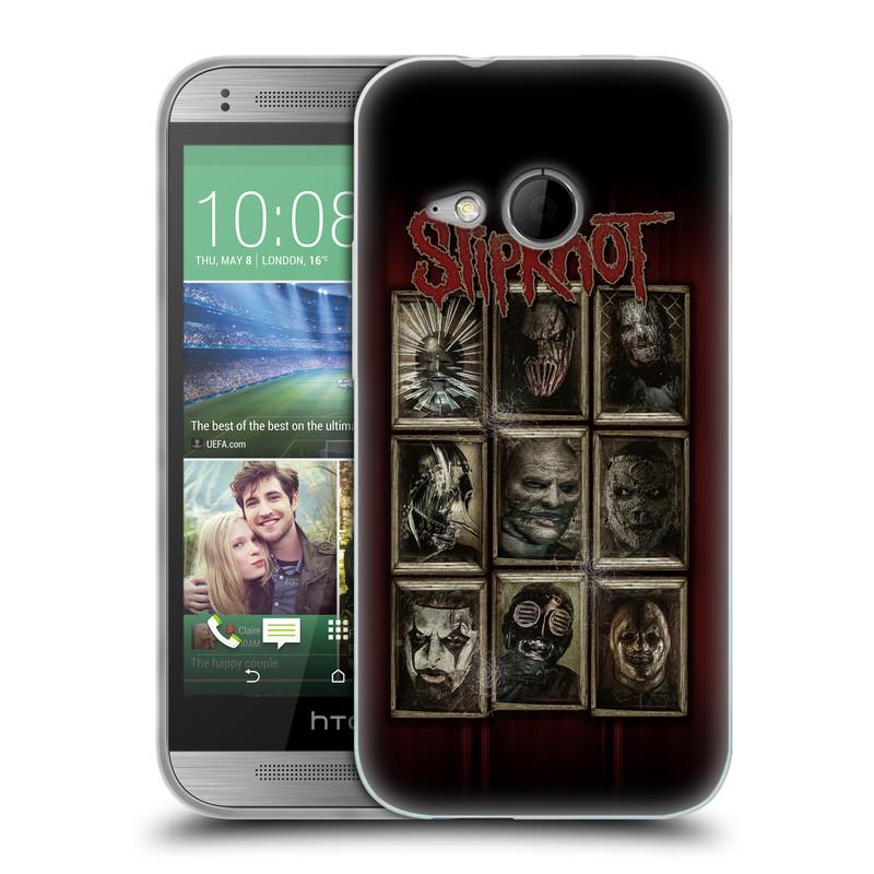 Silikonové pouzdro na mobil HTC ONE Mini 2 HEAD CASE Slipknot - Masky (Silikonový kryt či obal na mobilní telefon licencovaným motivem Slipknot pro HTC ONE Mini 2)