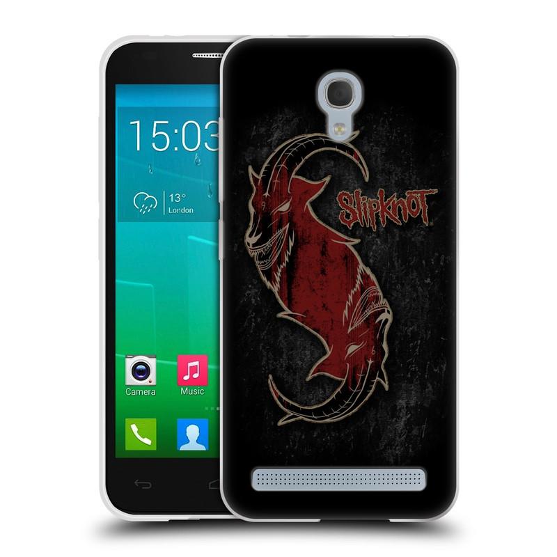 Silikonové pouzdro na mobil Alcatel One Touch Idol 2 Mini S 6036Y HEAD CASE Slipknot - Rudý kozel (Silikonový kryt či obal na mobilní telefon licencovaným motivem Slipknot pro Alcatel Idol 2 Mini S OT-6036Y)