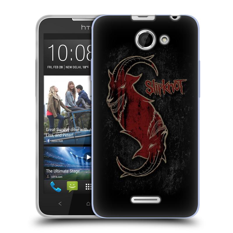 Silikonové pouzdro na mobil HTC Desire 516 HEAD CASE Slipknot - Rudý kozel (Silikonový kryt či obal na mobilní telefon licencovaným motivem Slipknot pro HTC Desire 516 Dual SIM)