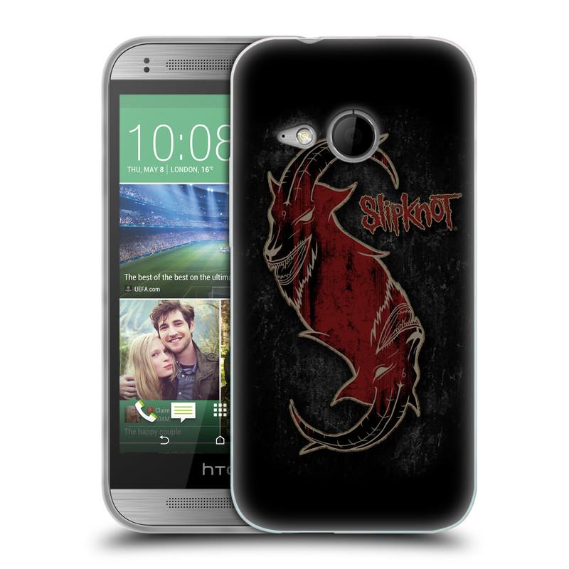 Silikonové pouzdro na mobil HTC ONE Mini 2 HEAD CASE Slipknot - Rudý kozel (Silikonový kryt či obal na mobilní telefon licencovaným motivem Slipknot pro HTC ONE Mini 2)