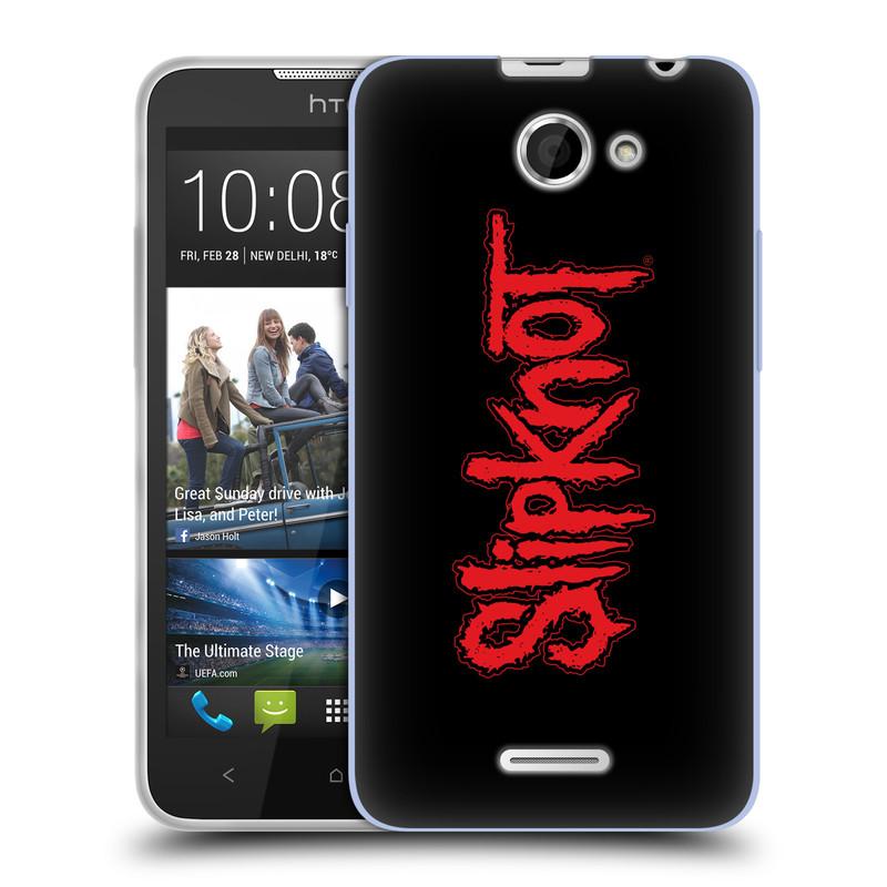 Silikonové pouzdro na mobil HTC Desire 516 HEAD CASE Slipknot - Logo (Silikonový kryt či obal na mobilní telefon licencovaným motivem Slipknot pro HTC Desire 516 Dual SIM)