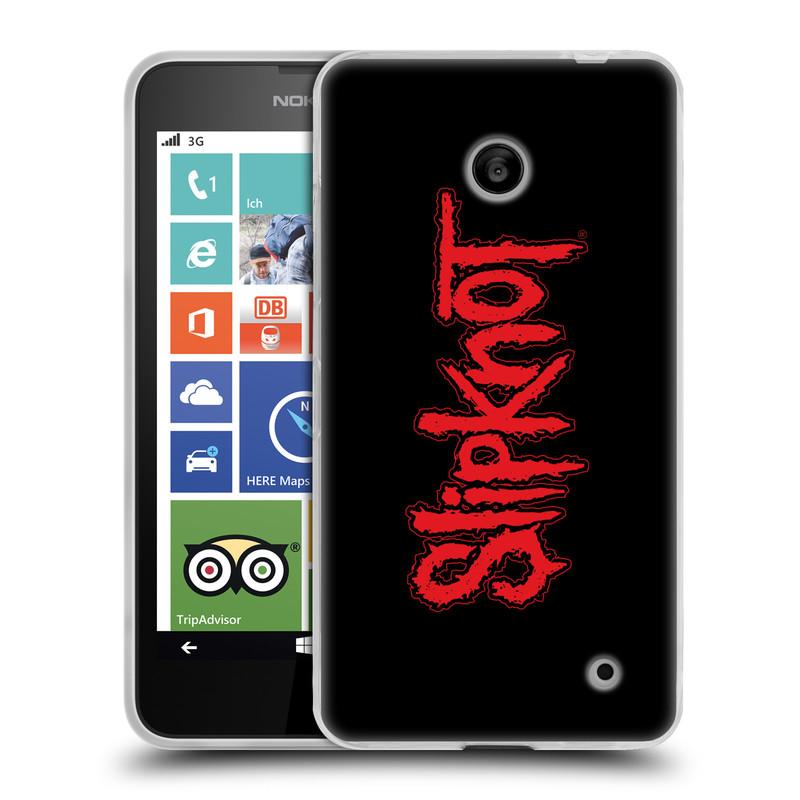 Silikonové pouzdro na mobil Nokia Lumia 635 HEAD CASE Slipknot - Logo (Silikonový kryt či obal na mobilní telefon licencovaným motivem Slipknot pro Nokia Lumia 635 Dual SIM)