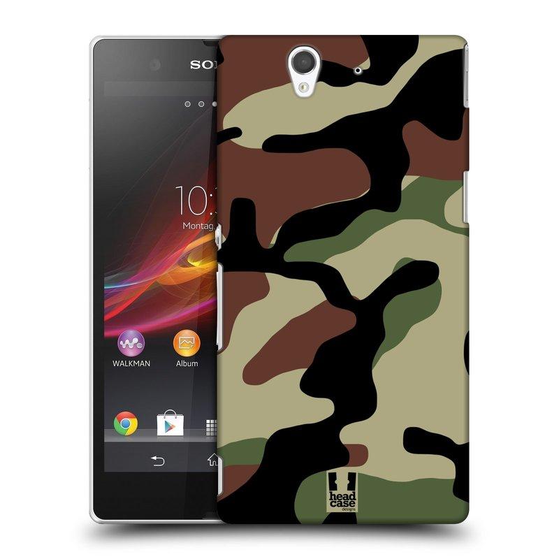Plastové pouzdro na mobil Sony Xperia Z C6603 HEAD CASE Maskáče (Kryt či obal na mobilní telefon Sony Xperia Z )