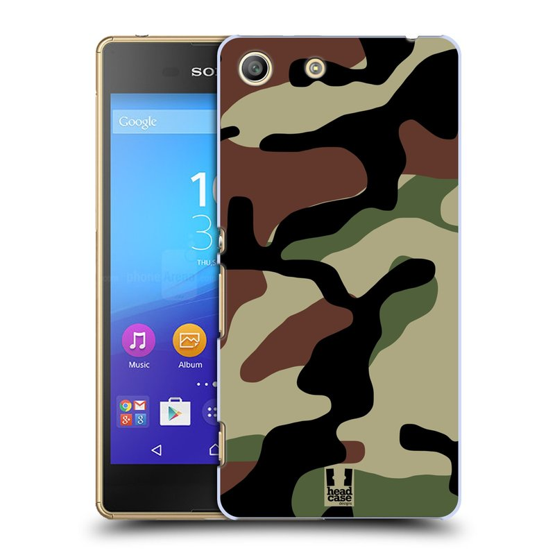 Plastové pouzdro na mobil Sony Xperia M5 HEAD CASE Maskáče (Kryt či obal na mobilní telefon Sony Xperia M5 Aqua)