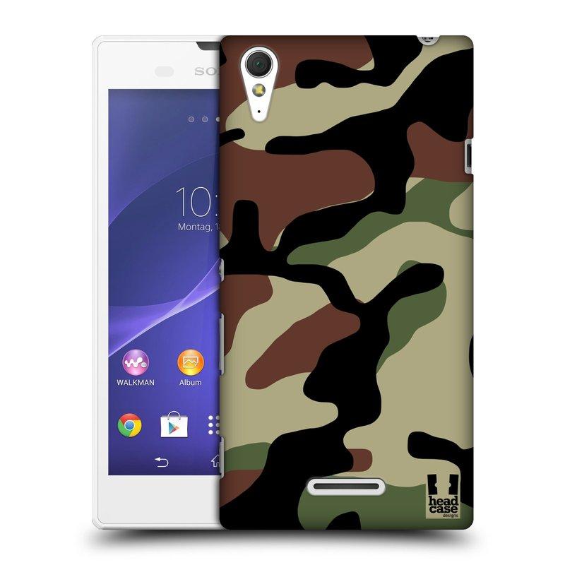 Plastové pouzdro na mobil Sony Xperia T3 D5103 HEAD CASE Maskáče (Kryt či obal na mobilní telefon Sony Xperia T3 )