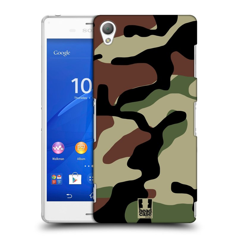 Plastové pouzdro na mobil Sony Xperia Z3 D6603 HEAD CASE Maskáče (Kryt či obal na mobilní telefon Sony Xperia Z3 )