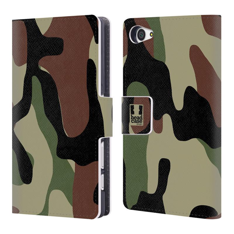 Flipové pouzdro na mobil Sony Xperia Z5 Compact HEAD CASE Maskáče (Flipový vyklápěcí kryt či obal z umělé kůže na mobilní telefon Sony Xperia Z5 Compact E5823)