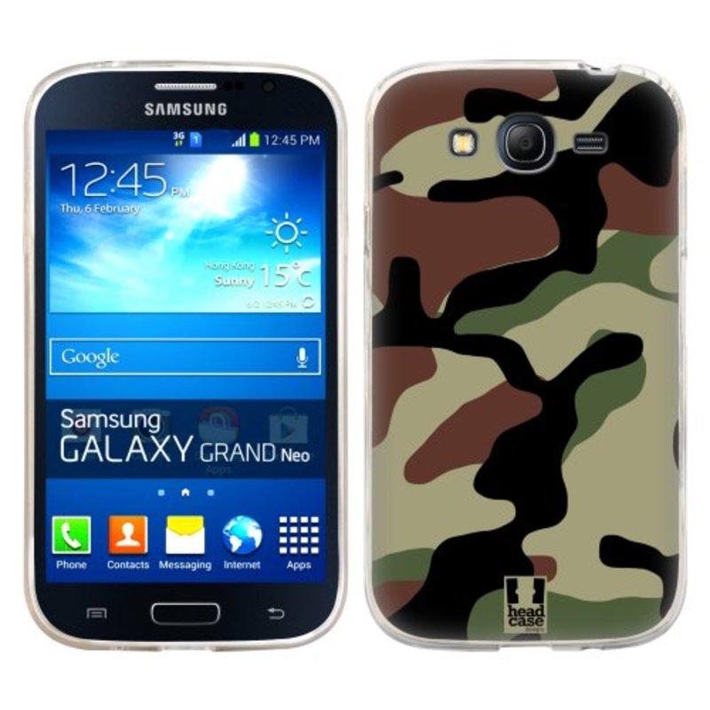 Silikonové pouzdro na mobil Samsung Galaxy Grand Neo Plus HEAD CASE Maskáče (Silikonový kryt či obal na mobilní telefon Samsung Galaxy Grand Neo Plus Duos GT-I9060i)