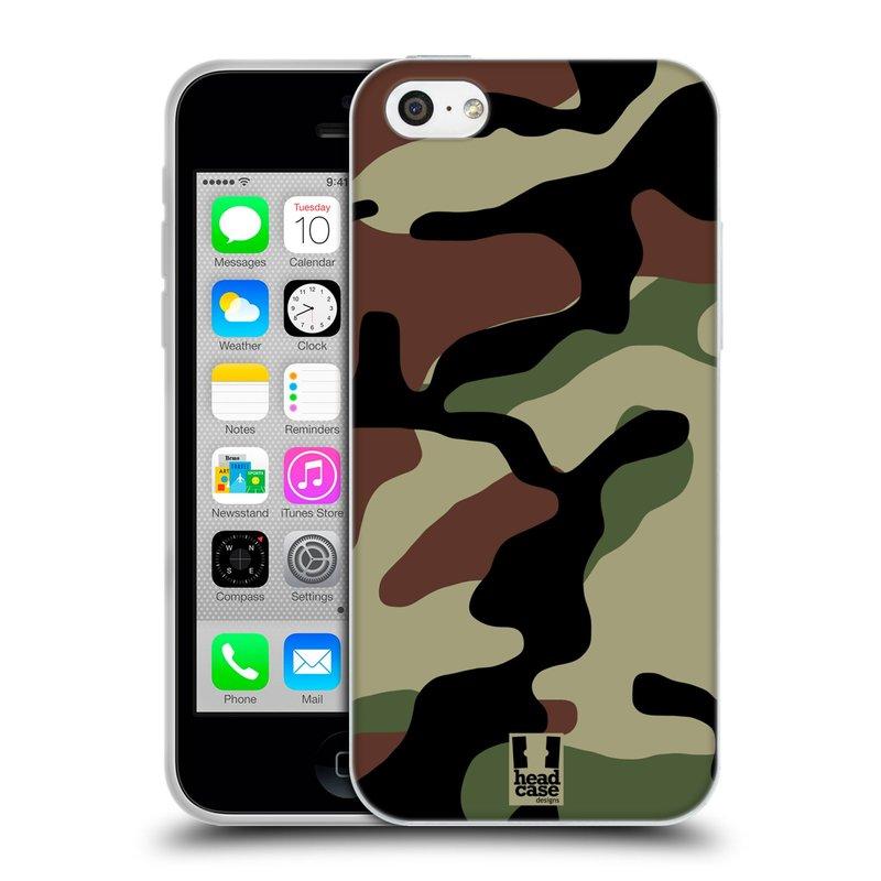 Silikonové pouzdro na mobil Apple iPhone 5C HEAD CASE Maskáče (Silikonový kryt či obal na mobilní telefon Apple iPhone 5C)