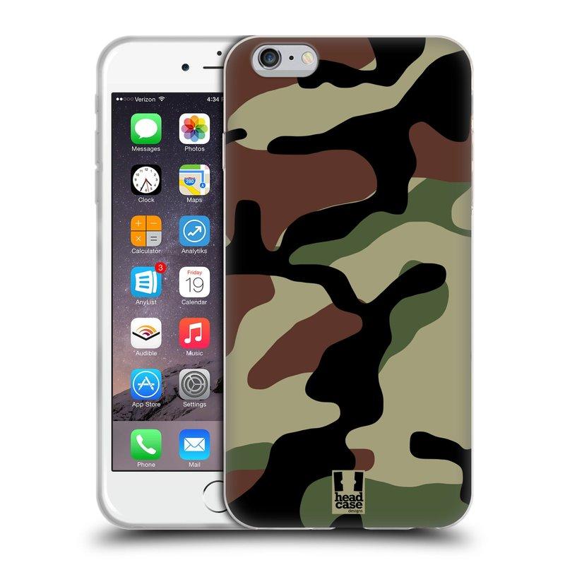 Silikonové pouzdro na mobil Apple iPhone 6 Plus a 6S Plus HEAD CASE Maskáče (Silikonový kryt či obal na mobilní telefon Apple iPhone 6 Plus a 6S Plus)