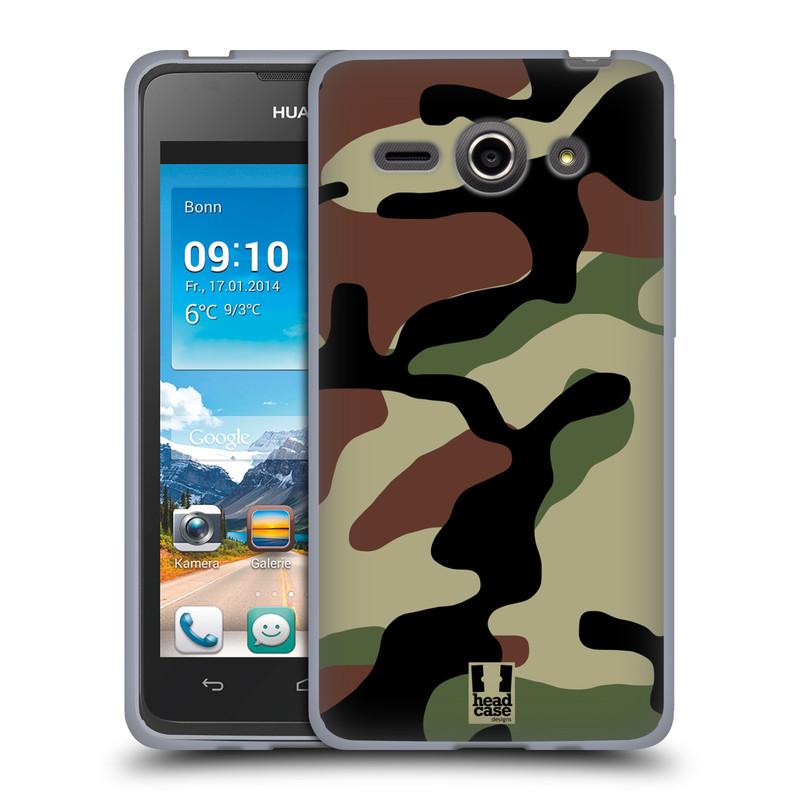 Silikonové pouzdro na mobil Huawei Ascend Y530 HEAD CASE Maskáče (Silikonový kryt či obal na mobilní telefon Huawei Ascend Y530)