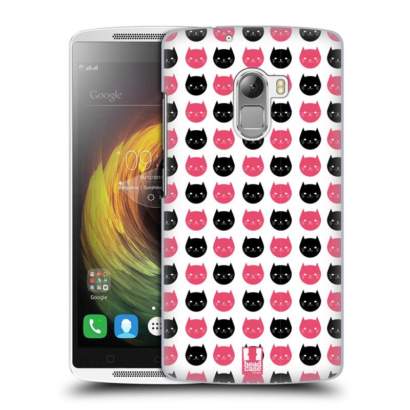 Plastové pouzdro na mobil Lenovo A7010 HEAD CASE KOČKY Black and Pink (Kryt či obal na mobilní telefon Lenovo A7010 Dual SIM / K4 Note / Vibe X3 Lite)
