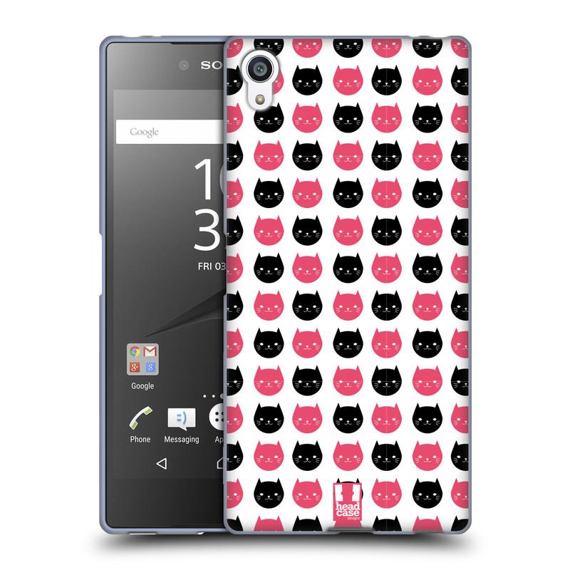 Silikonové pouzdro na mobil Sony Xperia Z5 Premium HEAD CASE KOČKY Black and Pink (Silikonový kryt či obal na mobilní telefon Sony Xperia Z5 Premium E6853)