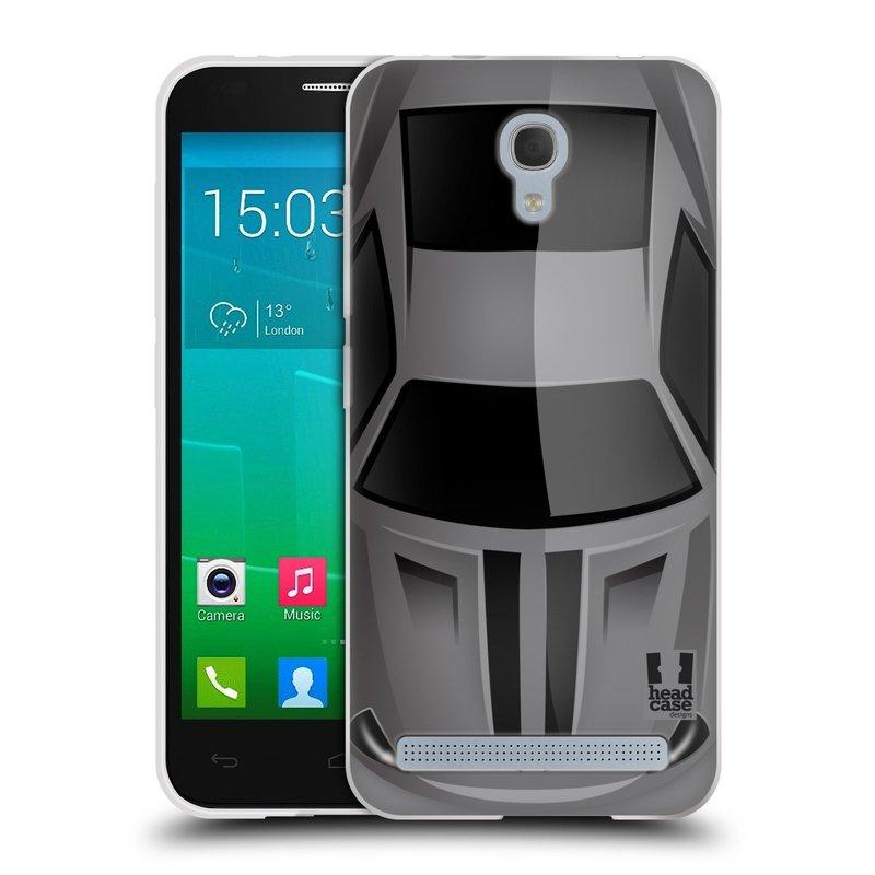 Silikonové pouzdro na mobil Alcatel One Touch Idol 2 Mini S 6036Y HEAD CASE AUTO ŠEDÉ (Silikonový kryt či obal na mobilní telefon Alcatel Idol 2 Mini S OT-6036Y)