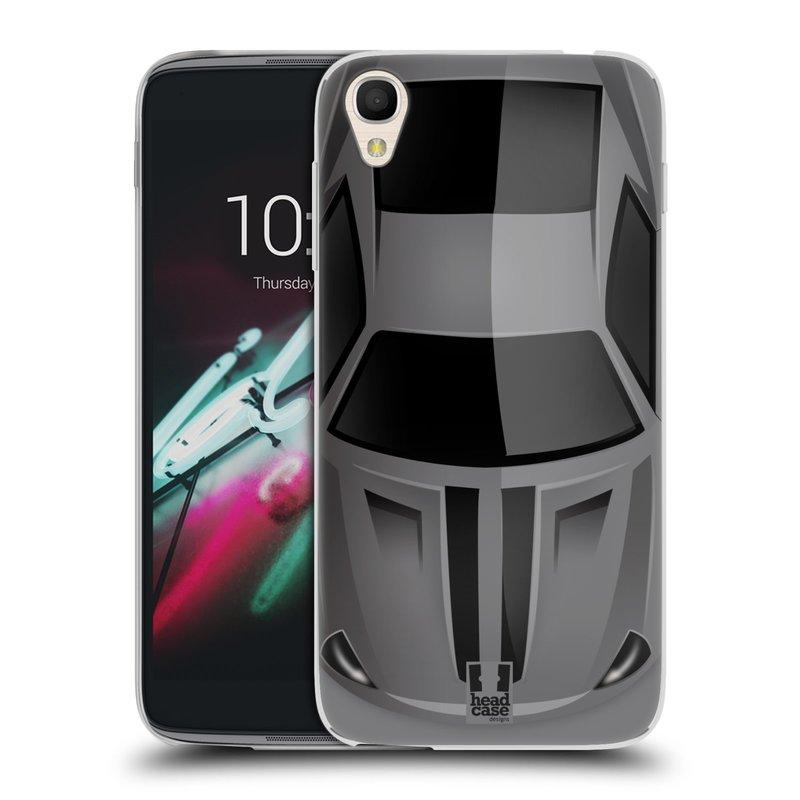 """Silikonové pouzdro na mobil Alcatel One Touch 6039Y Idol 3 HEAD CASE AUTO ŠEDÉ (Silikonový kryt či obal na mobilní telefon Alcatel One Touch Idol 3 OT-6039Y s 4,7"""" displejem)"""