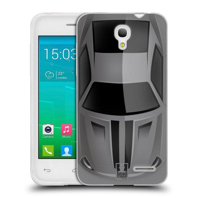Silikonové pouzdro na mobil Alcatel One Touch Pop S3 HEAD CASE AUTO ŠEDÉ (Silikonový kryt či obal na mobilní telefon Alcatel OT- 5050Y POP S3)