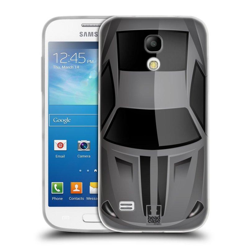 Silikonové pouzdro na mobil Samsung Galaxy S4 Mini VE HEAD CASE AUTO ŠEDÉ (Silikonový kryt či obal na mobilní telefon Samsung Galaxy S4 Mini VE GT-i9195i (nepasuje na verzi Black Edition))