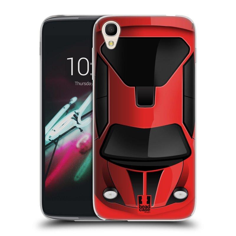 """Silikonové pouzdro na mobil Alcatel One Touch 6039Y Idol 3 HEAD CASE AUTO ČERVENÉ (Silikonový kryt či obal na mobilní telefon Alcatel One Touch Idol 3 OT-6039Y s 4,7"""" displejem)"""
