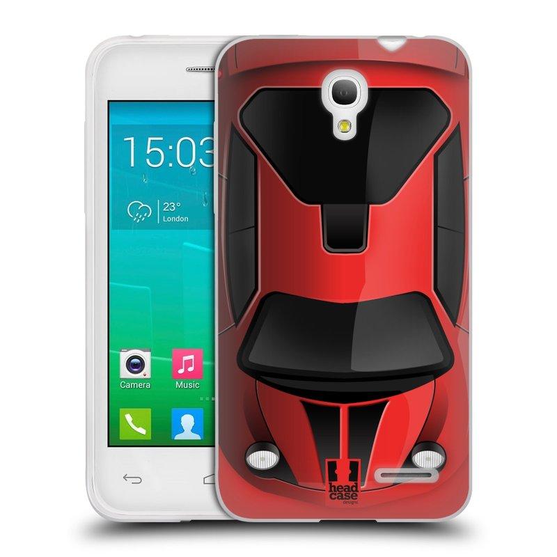 Silikonové pouzdro na mobil Alcatel One Touch Pop S3 HEAD CASE AUTO ČERVENÉ (Silikonový kryt či obal na mobilní telefon Alcatel OT- 5050Y POP S3)