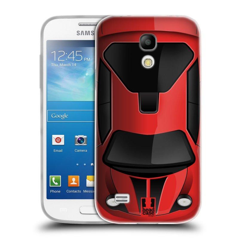 Silikonové pouzdro na mobil Samsung Galaxy S4 Mini VE HEAD CASE AUTO ČERVENÉ (Silikonový kryt či obal na mobilní telefon Samsung Galaxy S4 Mini VE GT-i9195i (nepasuje na verzi Black Edition))