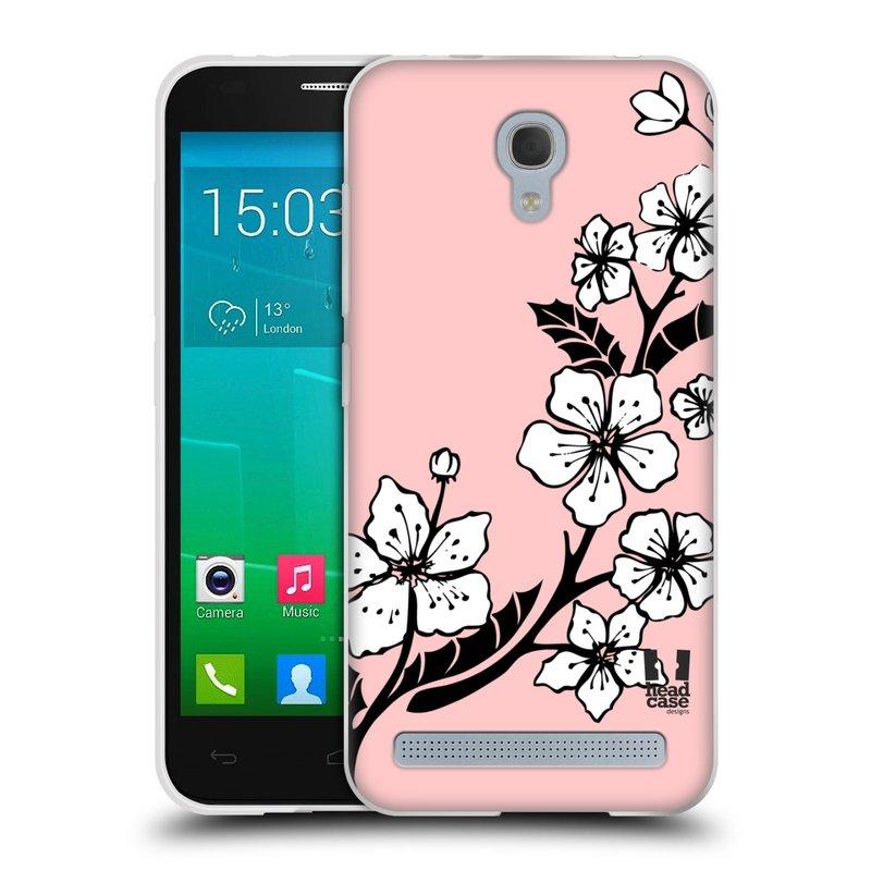 Silikonové pouzdro na mobil Alcatel One Touch Idol 2 Mini S 6036Y HEAD CASE BLOSSOMS VINE (Silikonový kryt či obal na mobilní telefon Alcatel Idol 2 Mini S OT-6036Y)