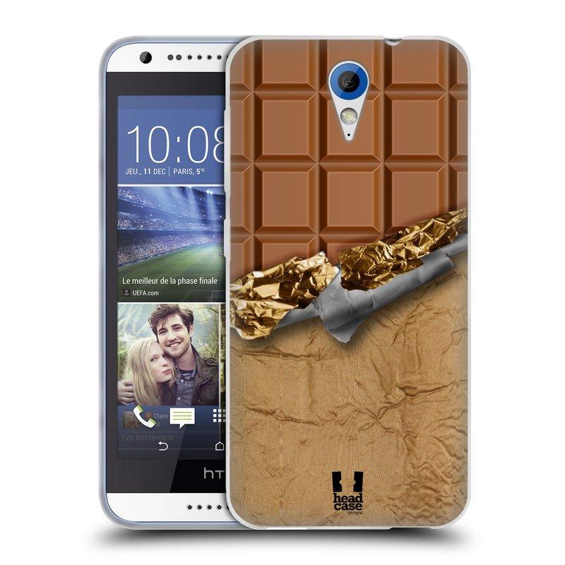Silikonové pouzdro na mobil HTC Desire 620 HEAD CASE ČOKOFOILED (Silikonový kryt či obal na mobilní telefon HTC Desire 620)