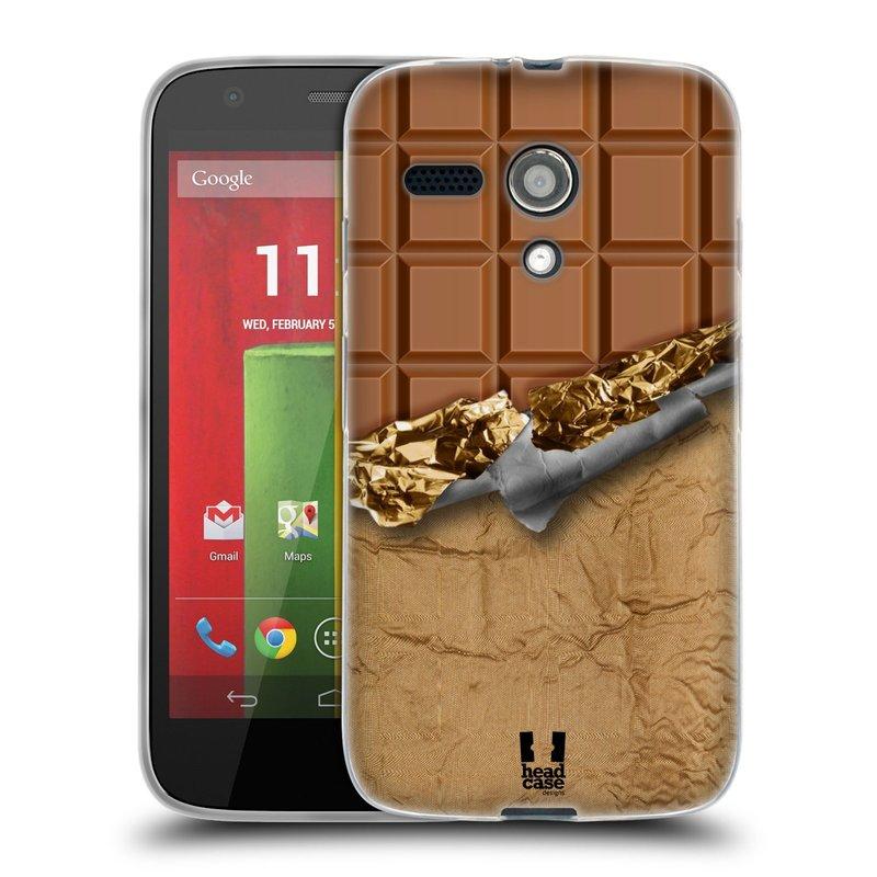 Silikonové pouzdro na mobil Motorola Moto G HEAD CASE ČOKOFOILED (Silikonový kryt či obal na mobilní telefon Motorola Moto G)