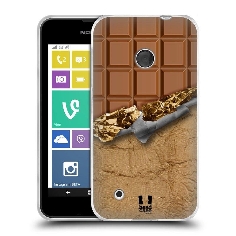 Silikonové pouzdro na mobil Nokia Lumia 530 HEAD CASE ČOKOFOILED (Silikonový kryt či obal na mobilní telefon Nokia Lumia 530)