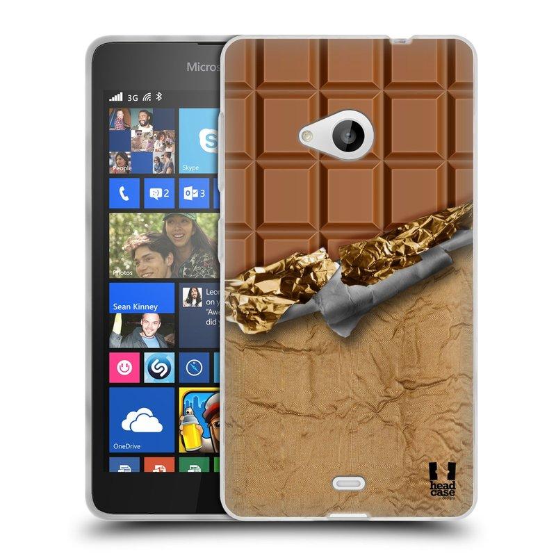 Silikonové pouzdro na mobil Microsoft Lumia 535 HEAD CASE ČOKOFOILED (Silikonový kryt či obal na mobilní telefon Microsoft Lumia 535)